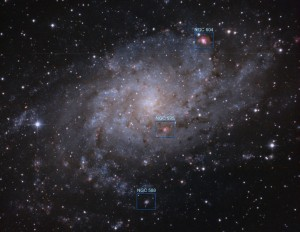Otros objetos destacados en M33